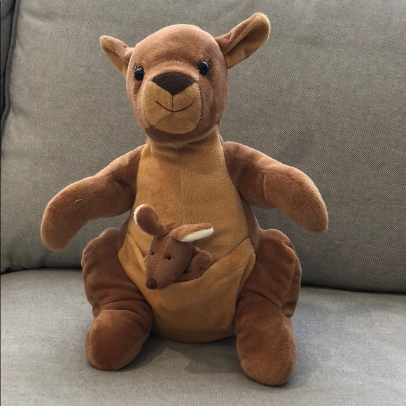 Other Kangaroo Stuffed Animal With Baby In Pouch Poshmark